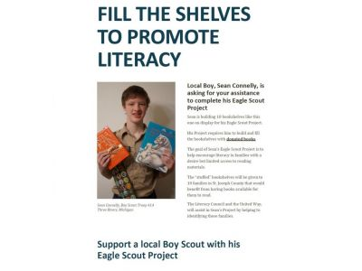 Fill the shelves to promote literacy